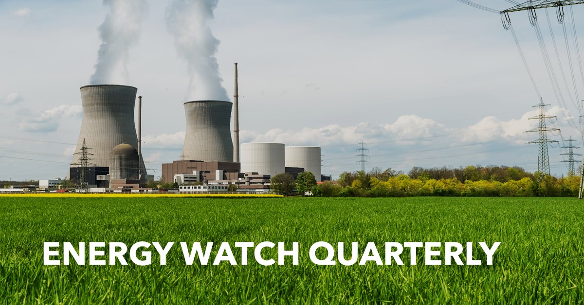 Energy Watch Quarterly Graphic